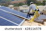 photovoltaic sistem | Shutterstock . vector #628116578