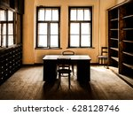 retro style office room with... | Shutterstock . vector #628128746