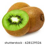 juicy kiwi with section... | Shutterstock . vector #628129526
