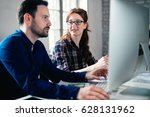 coworking and corporate... | Shutterstock . vector #628131962