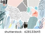 creative background with floral ... | Shutterstock .eps vector #628133645