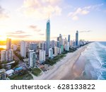 surfers paradise skyline at... | Shutterstock . vector #628133822