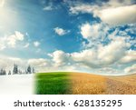 four seasons of year  winter ... | Shutterstock . vector #628135295