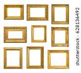 set of golden vintage frame on... | Shutterstock . vector #628136492