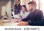 software engineers working on... | Shutterstock . vector #628146872