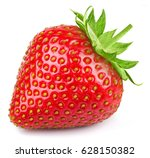 strawberry isolated on white...   Shutterstock . vector #628150382