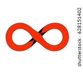 infinity icon symbol design....   Shutterstock .eps vector #628151402