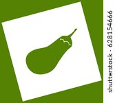 eggplant sign. salad ingredient.... | Shutterstock .eps vector #628154666