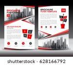 business brochure flyer...   Shutterstock .eps vector #628166792