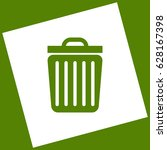 trash sign illustration. vector.... | Shutterstock .eps vector #628167398
