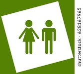 male and female sign. vector.... | Shutterstock .eps vector #628167965