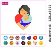 mother love concept icon | Shutterstock .eps vector #628169936
