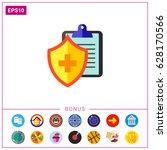 medical insurance icon | Shutterstock .eps vector #628170566