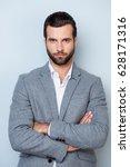 vertical portrait of successful ... | Shutterstock . vector #628171316