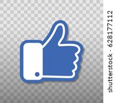 like flat icon | Shutterstock .eps vector #628177112