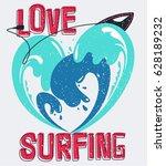 water splash shape heart with... | Shutterstock .eps vector #628189232