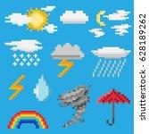 A Set Of Pixel Objects...