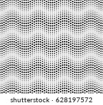 abstract halftone black and... | Shutterstock .eps vector #628197572