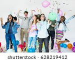 party celebrate enjoyment... | Shutterstock . vector #628219412