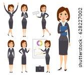vector business woman character ... | Shutterstock .eps vector #628227002