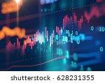financial stock market graph on ... | Shutterstock . vector #628231355