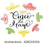 happy cinco de mayo greeting... | Shutterstock .eps vector #628232426