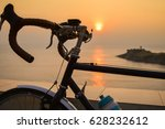 One Bicycle Silhouette On A...