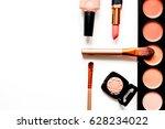 decorative cosmetics nude on... | Shutterstock . vector #628234022