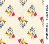 seamless floral pattern white... | Shutterstock .eps vector #628251032