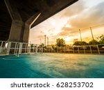 soccer field is under... | Shutterstock . vector #628253702