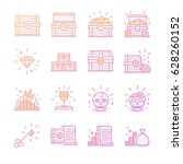 treasure chest icon set | Shutterstock .eps vector #628260152