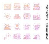 treasure chest gradient icon... | Shutterstock .eps vector #628260152