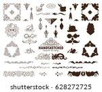vector calligraphic elements... | Shutterstock .eps vector #628272725