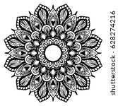 mandalas for coloring book.... | Shutterstock .eps vector #628274216