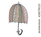 umbrella freehand vector | Shutterstock .eps vector #628278122