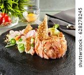 gourmet restaurant food  ... | Shutterstock . vector #628278245