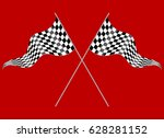 crossed flags depicting sports...   Shutterstock .eps vector #628281152