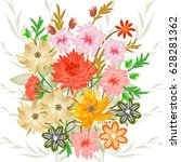 wedding card or invitation with ... | Shutterstock .eps vector #628281362