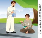 a vector illustration of muslim ... | Shutterstock .eps vector #628296908