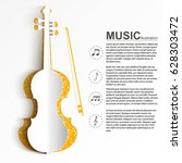 musical instrument template... | Shutterstock .eps vector #628303472