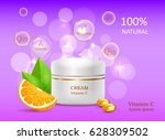 natural cream with vitamin a... | Shutterstock .eps vector #628309502