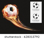 realistic vector soccer ball on ...