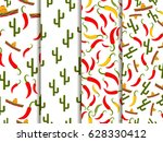 seamless pattern with sombrero  ... | Shutterstock .eps vector #628330412