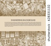 template engineering background ... | Shutterstock .eps vector #628331132
