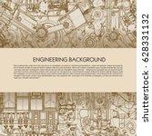 template engineering background ... | Shutterstock .eps vector #628331132
