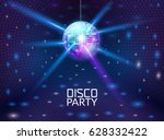 disco party background. music... | Shutterstock .eps vector #628332422