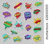 pop art comic speech bubbles... | Shutterstock .eps vector #628333505