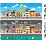info graphic city town home... | Shutterstock .eps vector #628333715