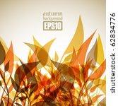 autumn background  eps10 | Shutterstock .eps vector #62834776