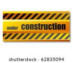 vector under construction sign | Shutterstock .eps vector #62835094